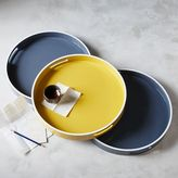 west elm White Rim Lacquer Trays - Small Round