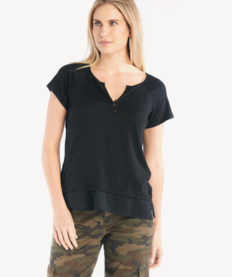 Sanctuary Women's Flirt Mix Tee In Color: Black Size XS From Sole Society