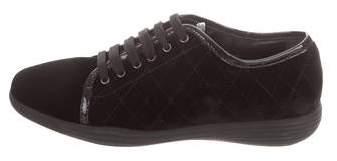 Aquatalia Velvet Quilted Sneakers