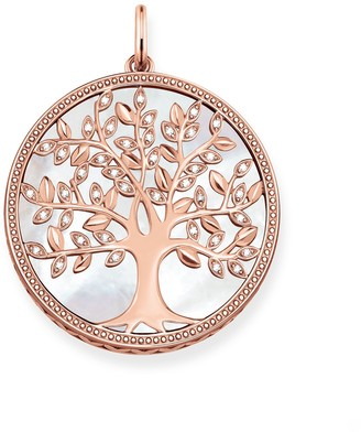 Thomas Sabo Women Pink 925 Sterling Silver Mother of Pearl Pendant PE761-435-14