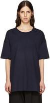Y's Ys Navy All Needles Big T-shirt