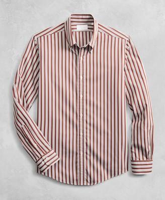 Brooks Brothers Golden Fleece Regent Fitted Multi-Stripe Sport Shirt