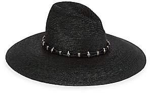 Saint Laurent Women's Western Straw Hat