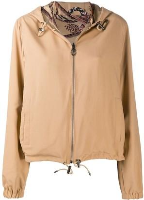 Salvatore Ferragamo Cropped Reversible Printed Jacket