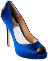 Badgley Mischka Sapphire Kiara Embellished Peep Toe Pumps