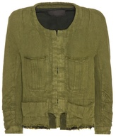 Haider Ackermann Cotton And Linen Cropped Jacket