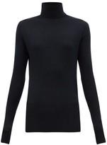 Raey Roll-neck Fine-rib Cashmere Sweater - Womens - Navy
