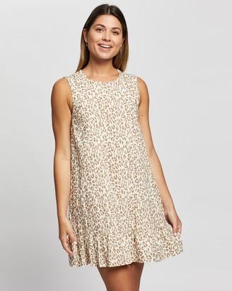 Atmos & Here Lianna Animal Print Mini Dress