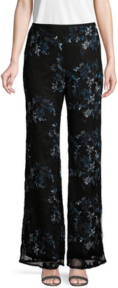 Nanette Lepore Blissful Embroidered Floral Pants