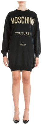 Moschino Print Sweatshirt Dress