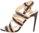 Jerome C. Rousseau Leather-Trimmed Abel Sandals