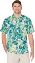 Cubavera Geo Tropical All Over Water Color Printed Shirt