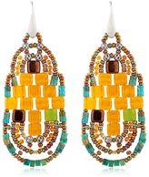 Ziio Pixel Orange Beaded Earrings