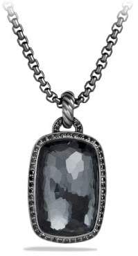 David Yurman Albion Pendant With Gray Orchid And Black Diamonds