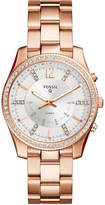 Fossil Q Women's Scarlette Rose Gold-Tone Stainless Steel Bracelet Hybrid Smart Watch 38mm