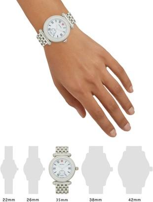 Michele Stainless Steel & Diamond Mesh Bracelet Watch