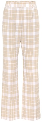 MM6 MAISON MARGIELA High-rise checked straight pants
