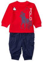 Ralph Lauren Baby Boys Tee and Jogger Pants Set
