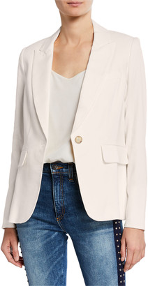 Veronica Beard One-Button Cutaway Jacket