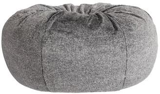 Pottery Barn Teen Speckled Coat Faux-Fur Bean Bag Chair