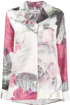Soulland Olga rose-print shirt