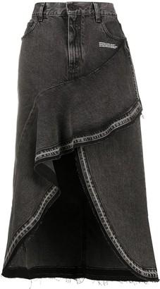 Off-White Asymmetrical Denim Skirt