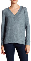 Harlowe & Graham V-Neck Soft Knit Fleece Sweater (Petite)