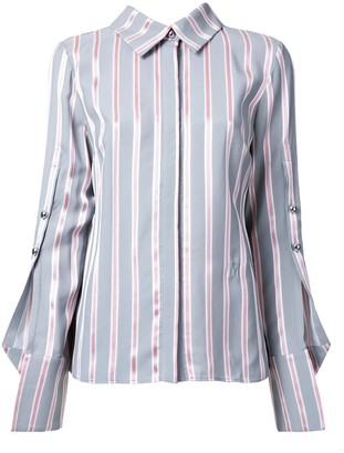 Monse buttoned sleeve striped shirt