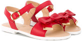 Moschino Kids - bow detail sandals - kids - Leather/rubber - 30