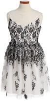 Frais Girl's Illusion Mesh Dress