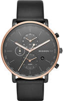 Skagen SKW6300 hagen rose gold-plated stainless steel and leather watch