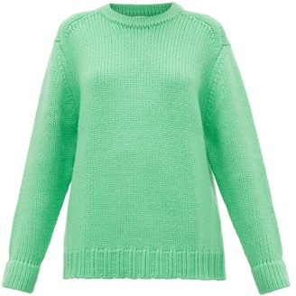 JoosTricot Crew-neck Wool-blend Sweater - Green