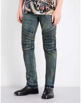 Balmain Biker Distressed Regular-fit Mid-rise Jeans