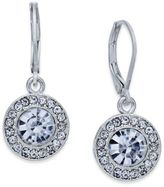 Charter Club Silver-Tone Crystal and Pavé Disc Drop Earrings, Created for Macy's