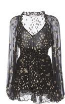LoveShackFancy Rina Fil Coupe Chiffon Mini Dress