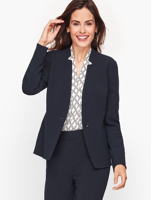 Talbots Easy Travel Stand Collar Blazer