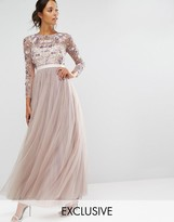 Needle & Thread Tulle Floral Gown