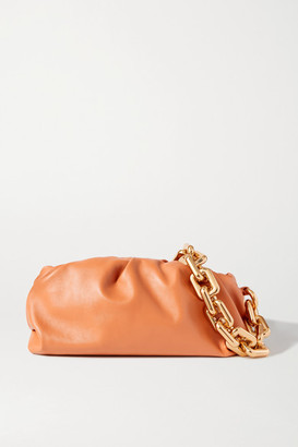 Bottega Veneta The Chain Pouch Gathered Leather Clutch - Light brown