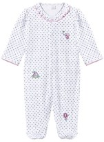 Kissy Kissy White Star Print and Embroidered Circus Babygrow with Frill Collar