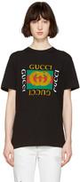 Gucci - T-shirt noir à logo et tigre