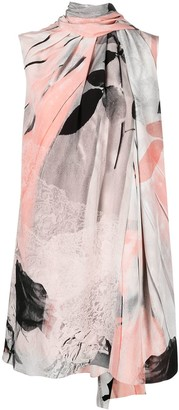Alexander McQueen Trompe-L'il Printed Dress