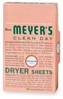 Mrs. Meyer's Clean Day Aromatherapeutic Geranium 80-Pack Dryer Sheets