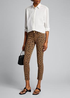 Frame Spring Cheetah Skinny Cargo Pants