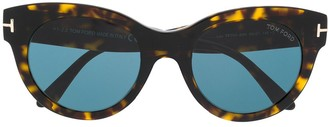 Tom Ford Lou soft-round frame sunglasses