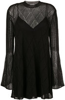McQ by Alexander McQueen mini dress - women - Polyamide/Polyester/Wool - XS