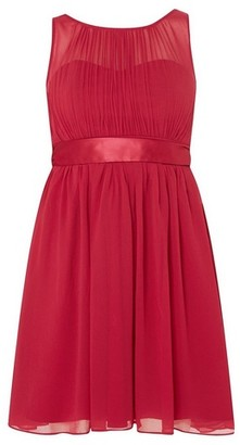 Dorothy Perkins Womens Showcase Petite Red Berry Beth Dress, Red