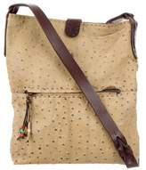 Henry Beguelin Ostrich Messenger Bag