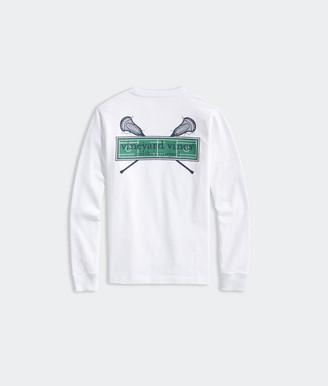 Vineyard Vines Boys' LAX Field Logo Box Long-Sleeve Pocket Tee