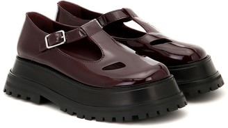 Burberry Aldwych patent leather platform loafers