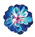 Set of 5 Waterproof Temporary Fake Tattoo Stickers 3D Blue Purple Flowers Succulent Plants